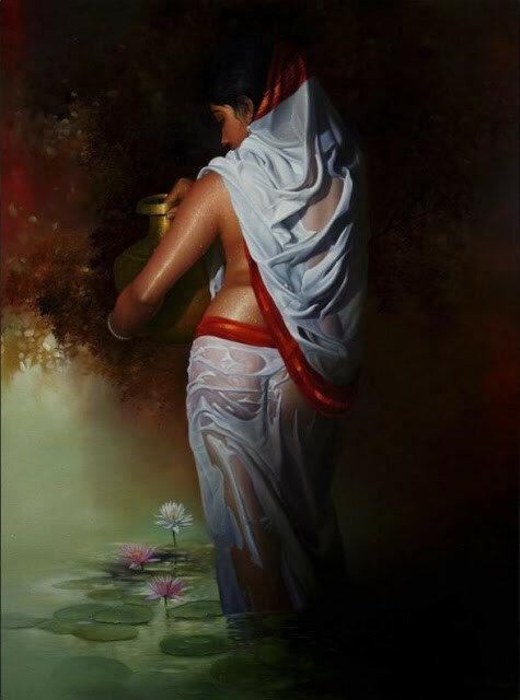 Отвечу тому, кто не знает, что цветок нимфея я! Индийский художник Amit Bhar