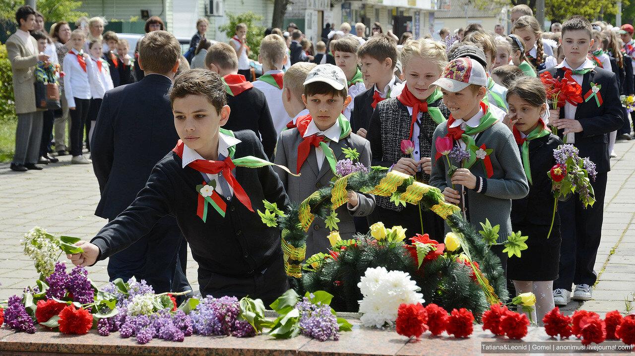 Вступление в пионеры и октябрята в Советском районе. Гомель