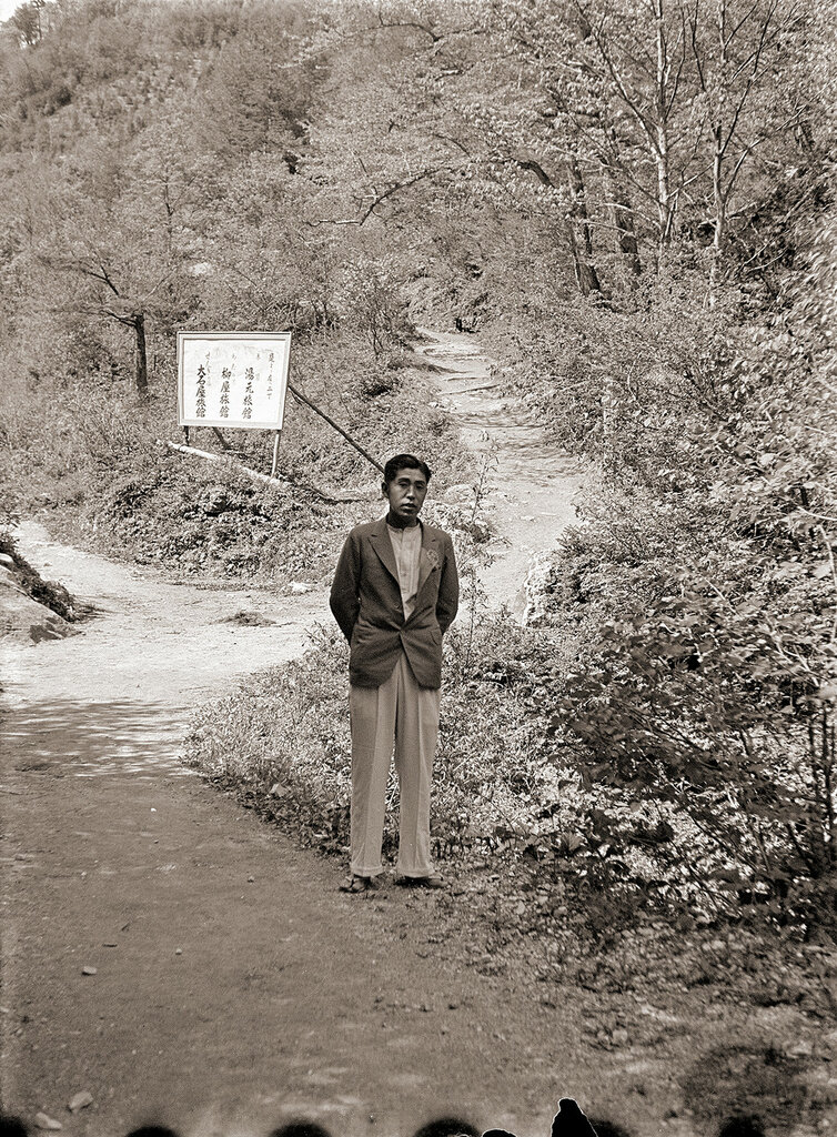 Japanese Man on Dirt Path, 1930s Japan.
