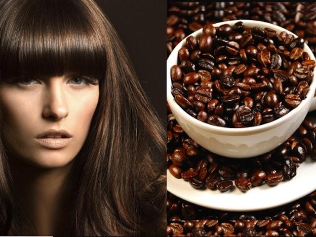 Кофейные маска и ополаскиватель для темных волос (2 фото)