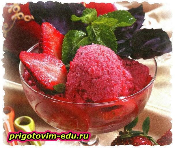 Томатно - клубничное мороженое (из помидор)