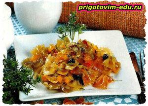 Макароны с медом и болгарским перцем. рецепт приготовления