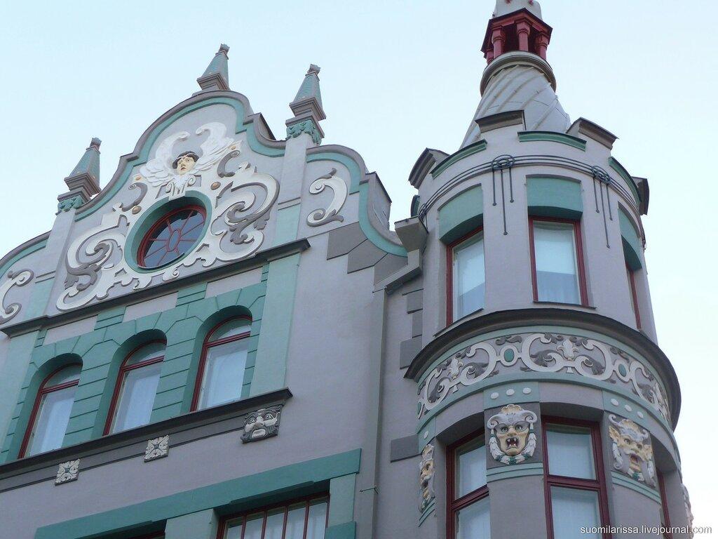 "ул. Пикк, здание в стиле ""модерн"", 1909 г."