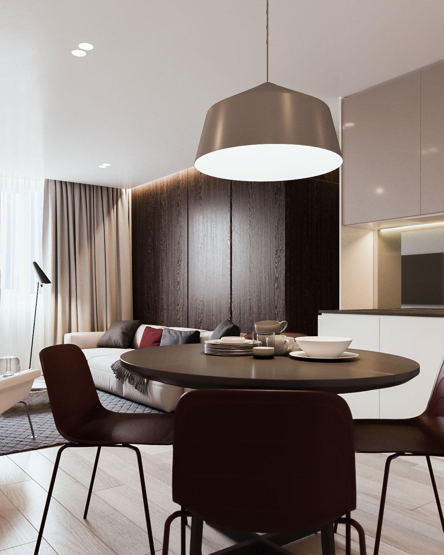 Minsk Apartament, Yevhen Zahorodnii, Sivak Trigubchak, контрастный интерьер квартиры фото, строгий интерьер квартиры фото, сдержанный дизайн интерьера