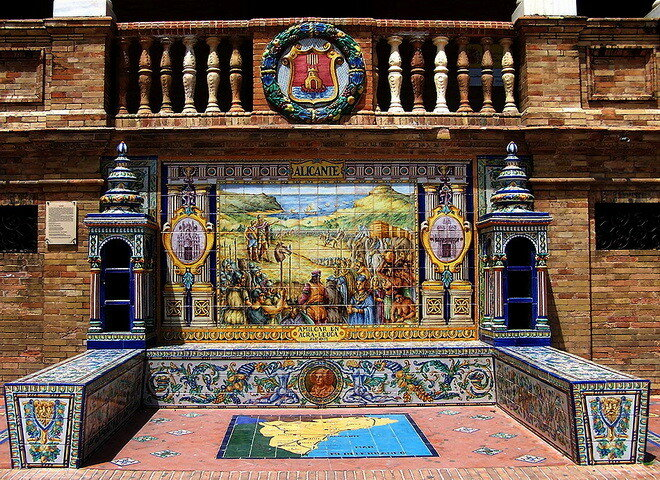 Площадь Испании, г.Севилья, Италия