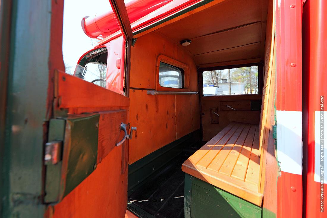 ретро пожарный автомобиль