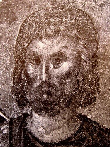 Святой Великомученик Евстафий Плакида. Фреска монастыря Хора в Константинополе. 1315 - 1321 годы.