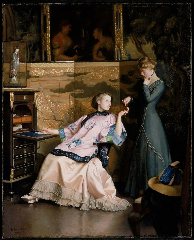 William McGregor Paxton, The New Necklace, 1910, Museum of Fine Arts, Boston