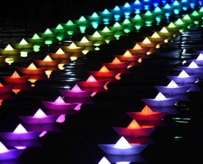 Light City: фотографии красочного фестиваля огней в Балтиморе 0 22c12b b4fa6010 XL