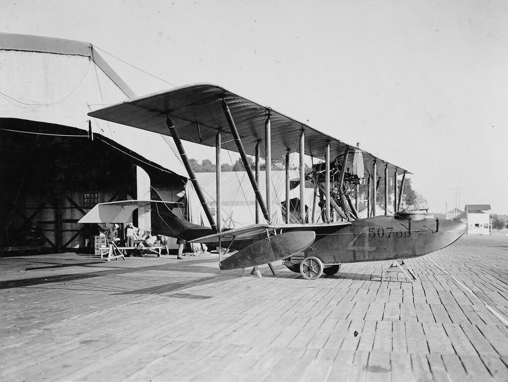 DONNET-DENHAUT, French flying boat at Moutchic, France, 1917-1919.