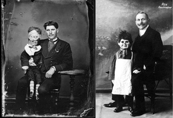 Говорящие монстры: 15 ужасающих кукол чревовещателей начала ХХ века. (15 фото)