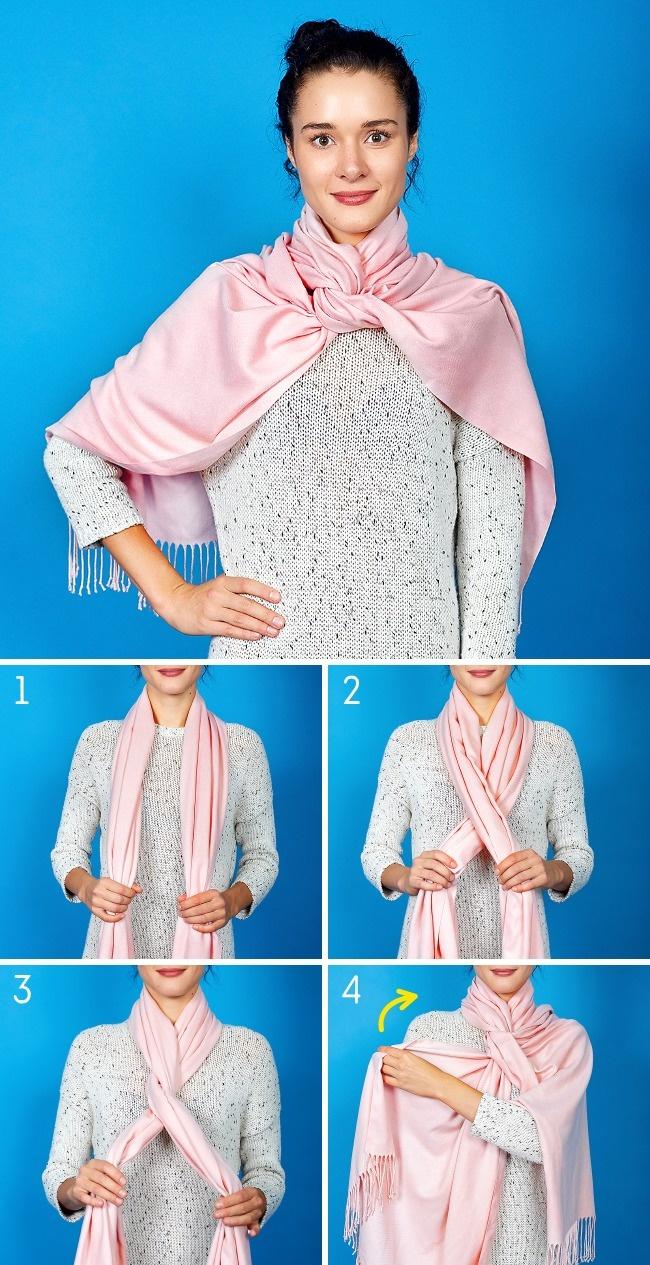 2. Свисающий шарф