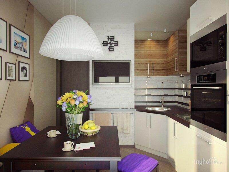 Фото интерьер кухни в панельном доме