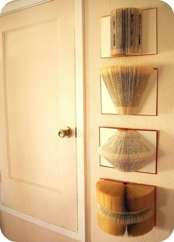 Украшение стен бумажным декором