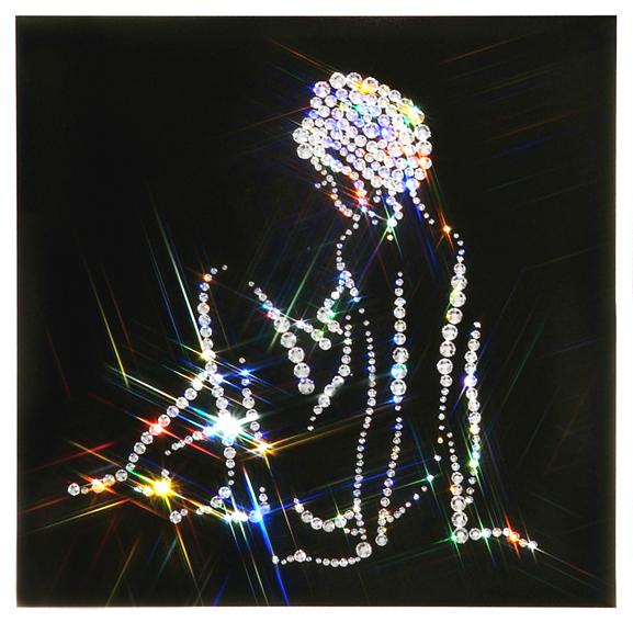 Хрустальная картина Swarovski Женский силуэт(Нежность).jpg