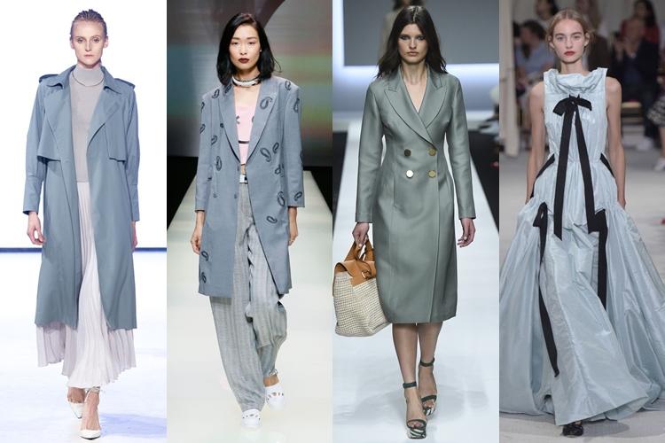 модные цвета весна лето 2016 - серо-синий