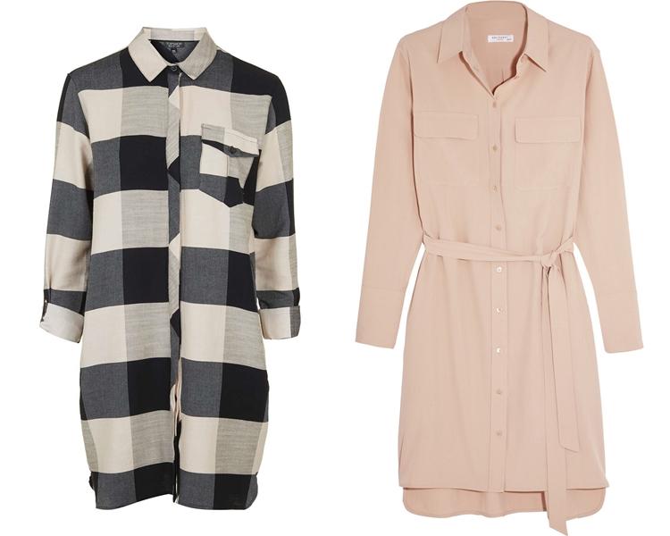 модный фасон платья 2016: платья-рубашки