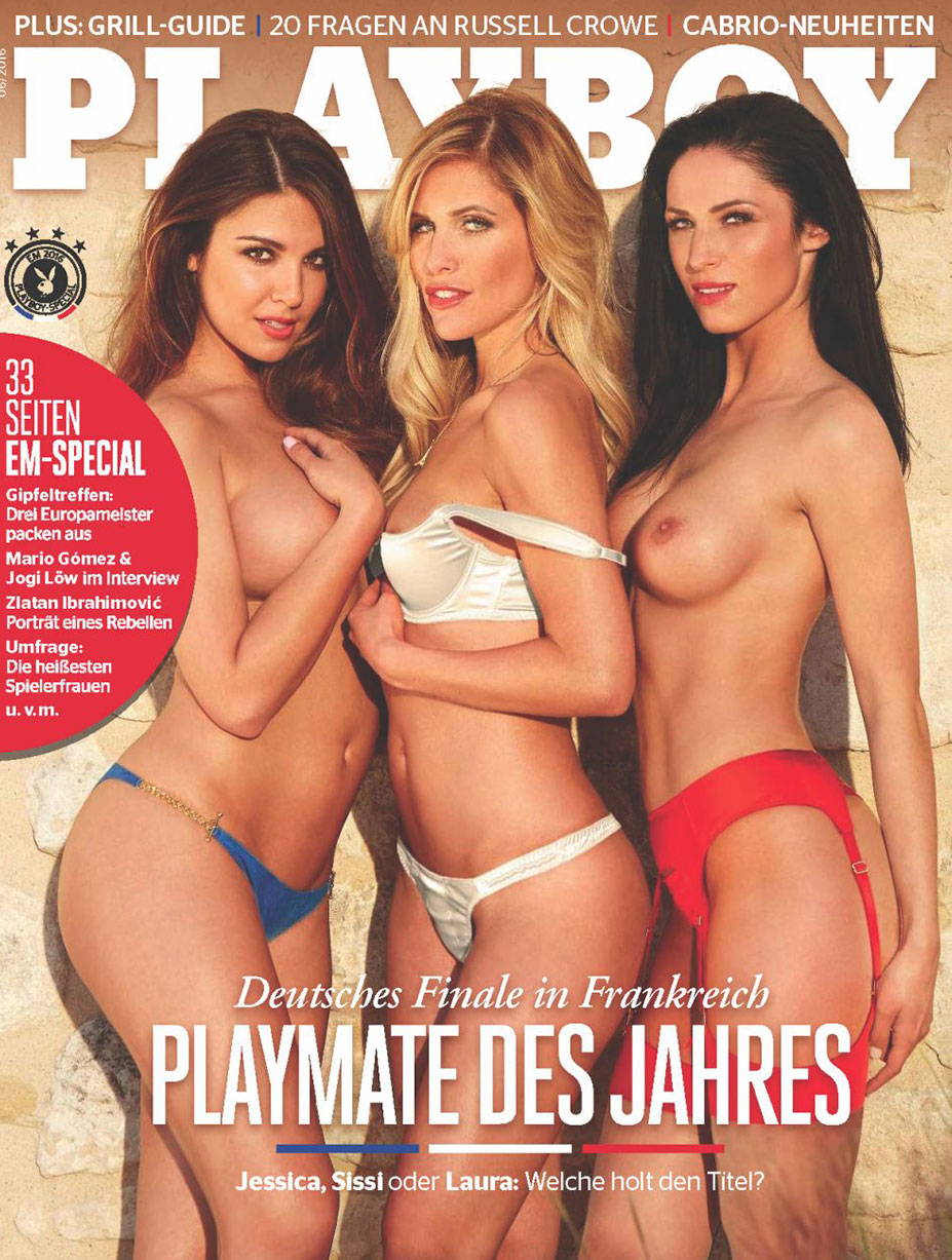 Лучшие девушки года / Jessica Ashley, Sissi Fahrenschon, Laura Kaiser - Playmate des Jahres - Playboy Germany june 2016