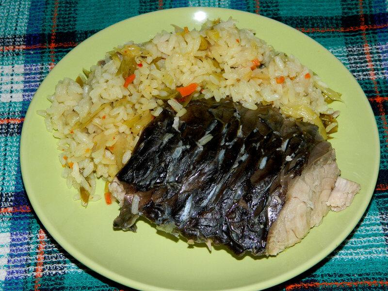 Карп с рисом фото