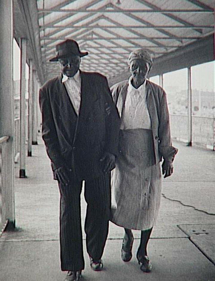 1957. Печальная негритянская пара. Луизиана