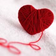 Сердечко из пряжи