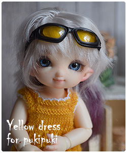 yellow dress for pukipuki
