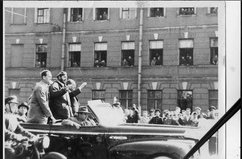 Фидель Кастро в Ленинграде-1963