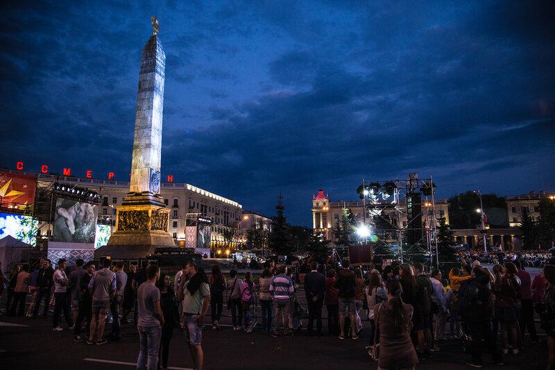 Плозадь Победы на 9 мая в Минске
