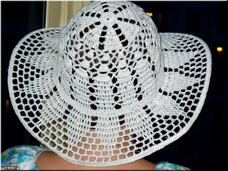 Шляпка женская крючком схема с фото