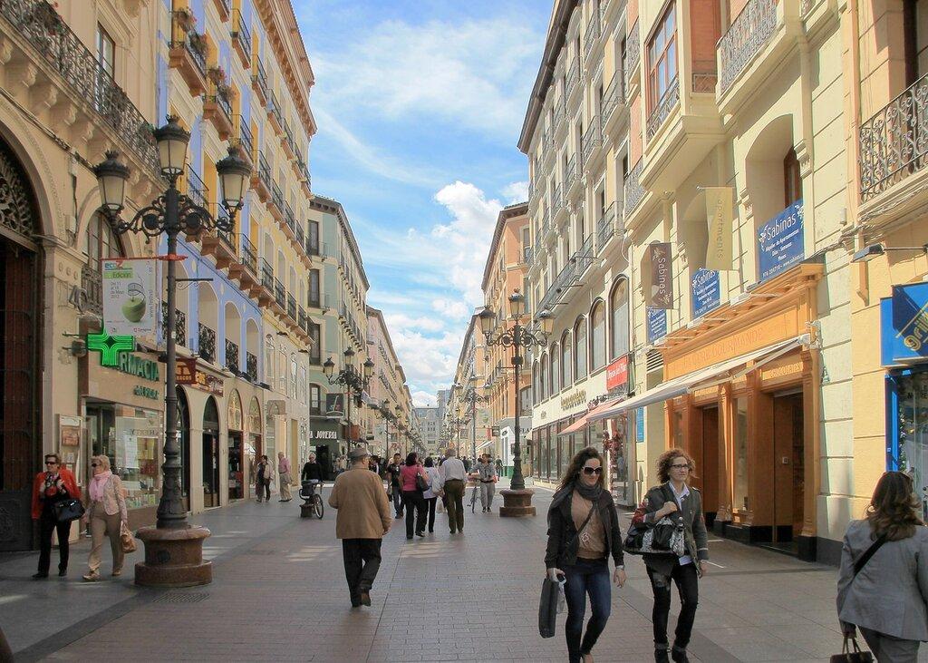 Сарагоса. Улица Альфонсо I (Calle de Alfonso I)