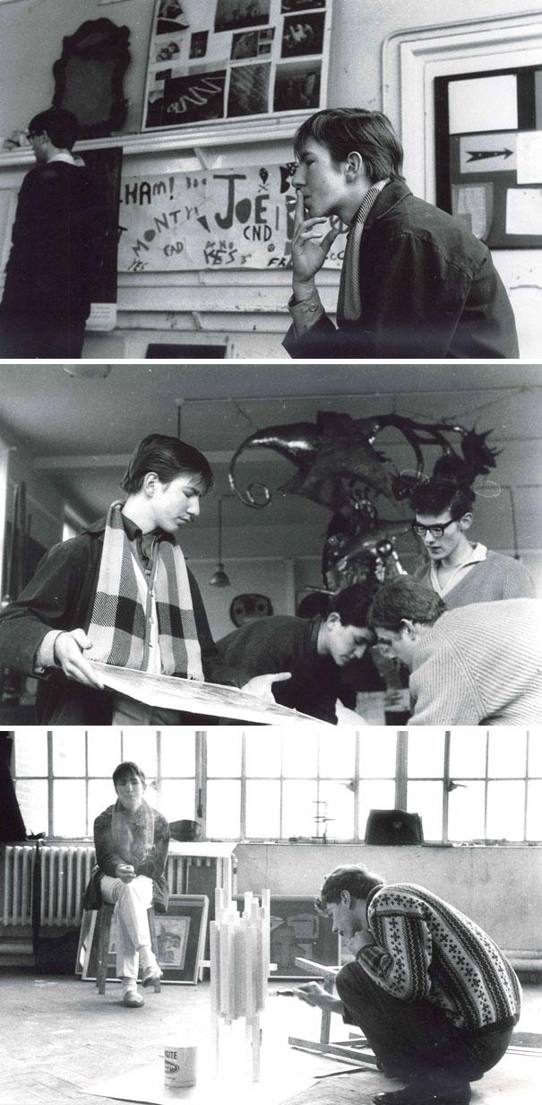 Алан Рикман в юности.