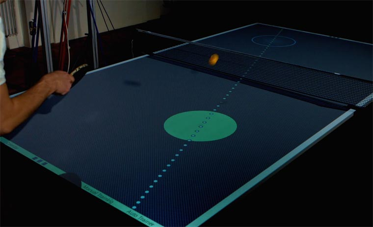 This interactive ping-pong table will teach you how to improve your skills