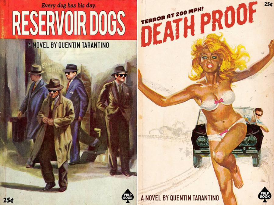Tarantino's Movies Revisited in Vintage Books