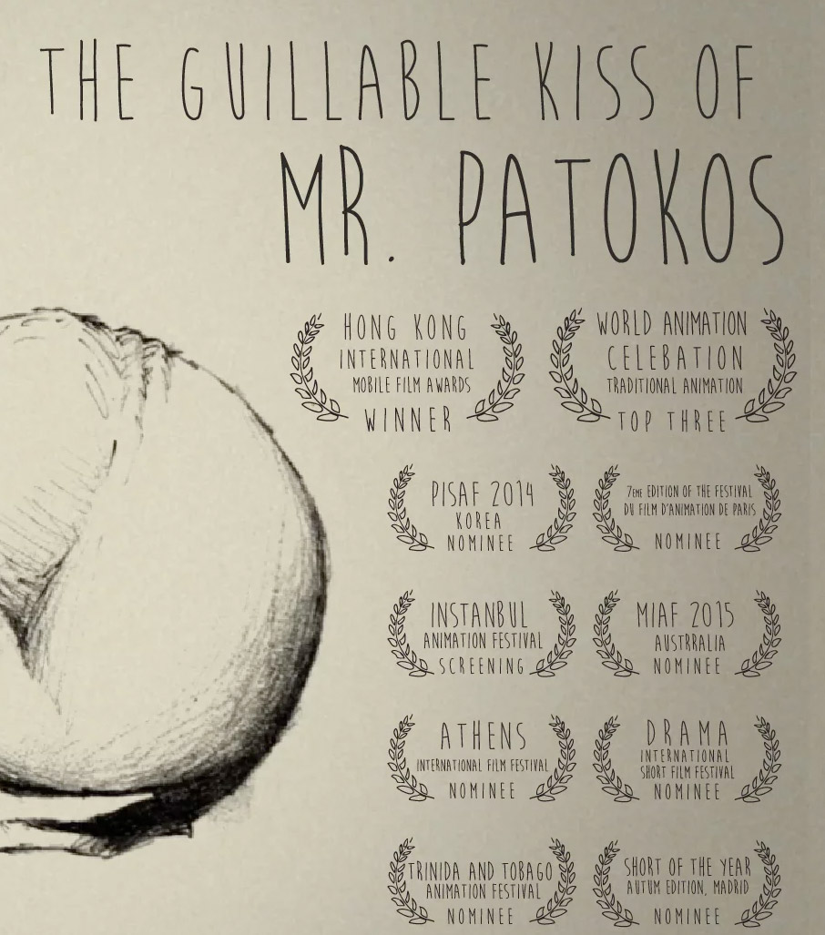 "Animacao grega ""The Guillable Kiss of Mr. Patokos"""