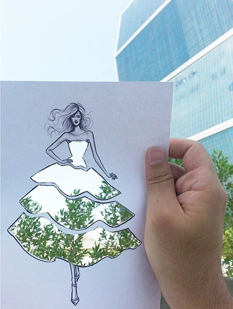 Imaginary Fashion - Using reality to create beautiful imaginary dresses