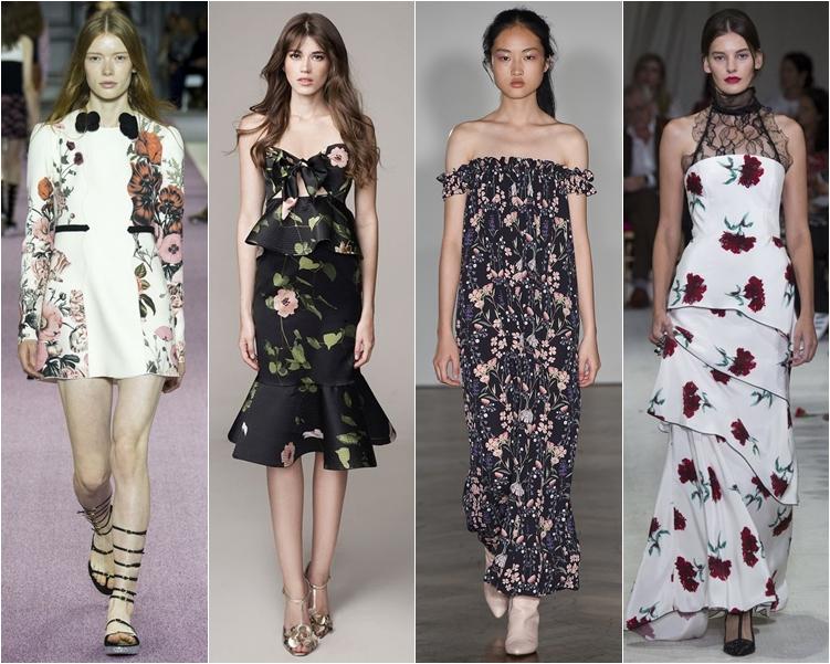 модный фасон платья 2016: платья с цветочным принтом