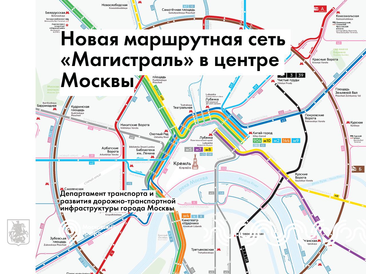 Новая схема движения наземного транспорта магистраль