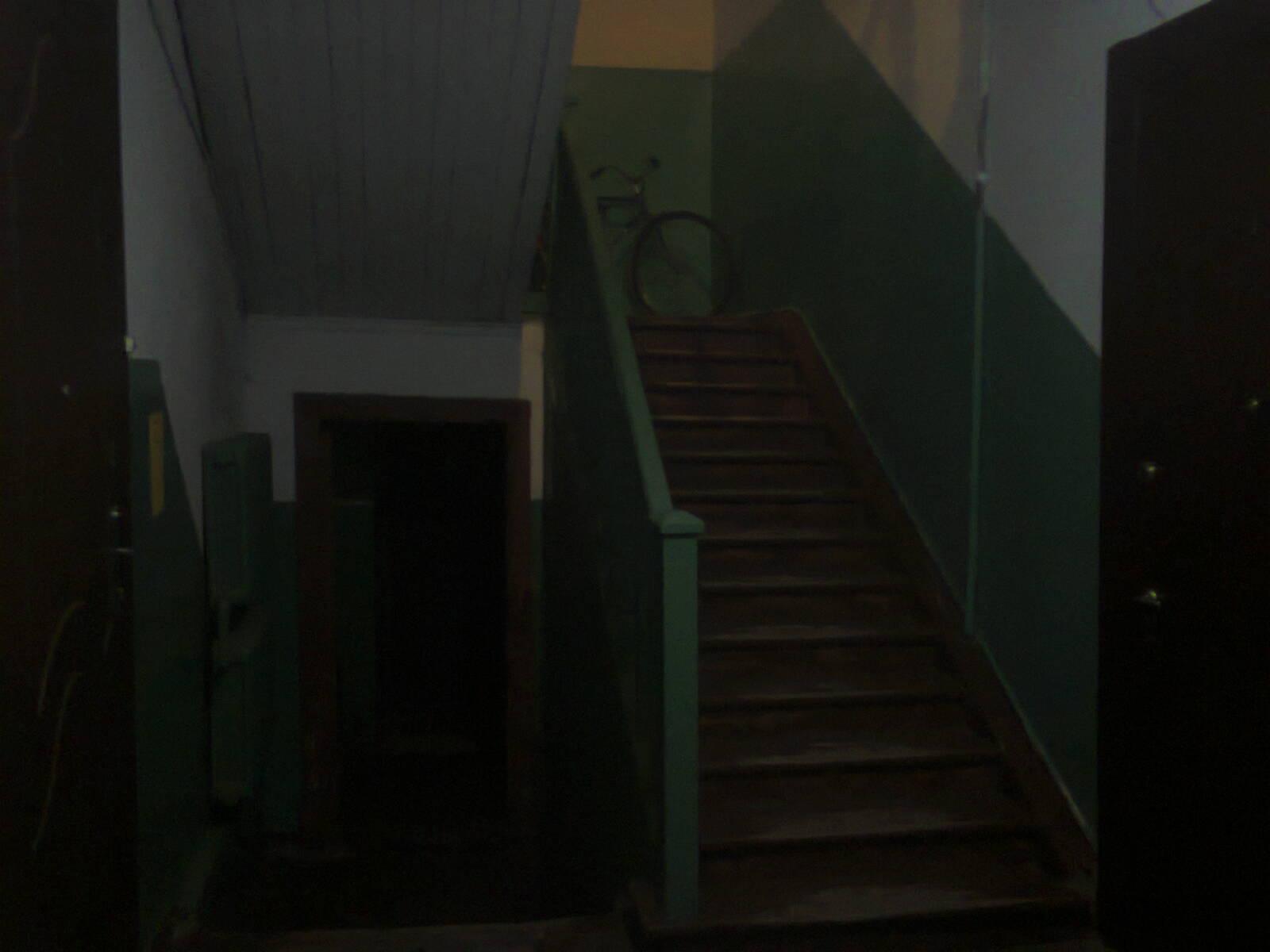 Интерьер парадной сталинского коттеджа в Партизанском переулке Павловска