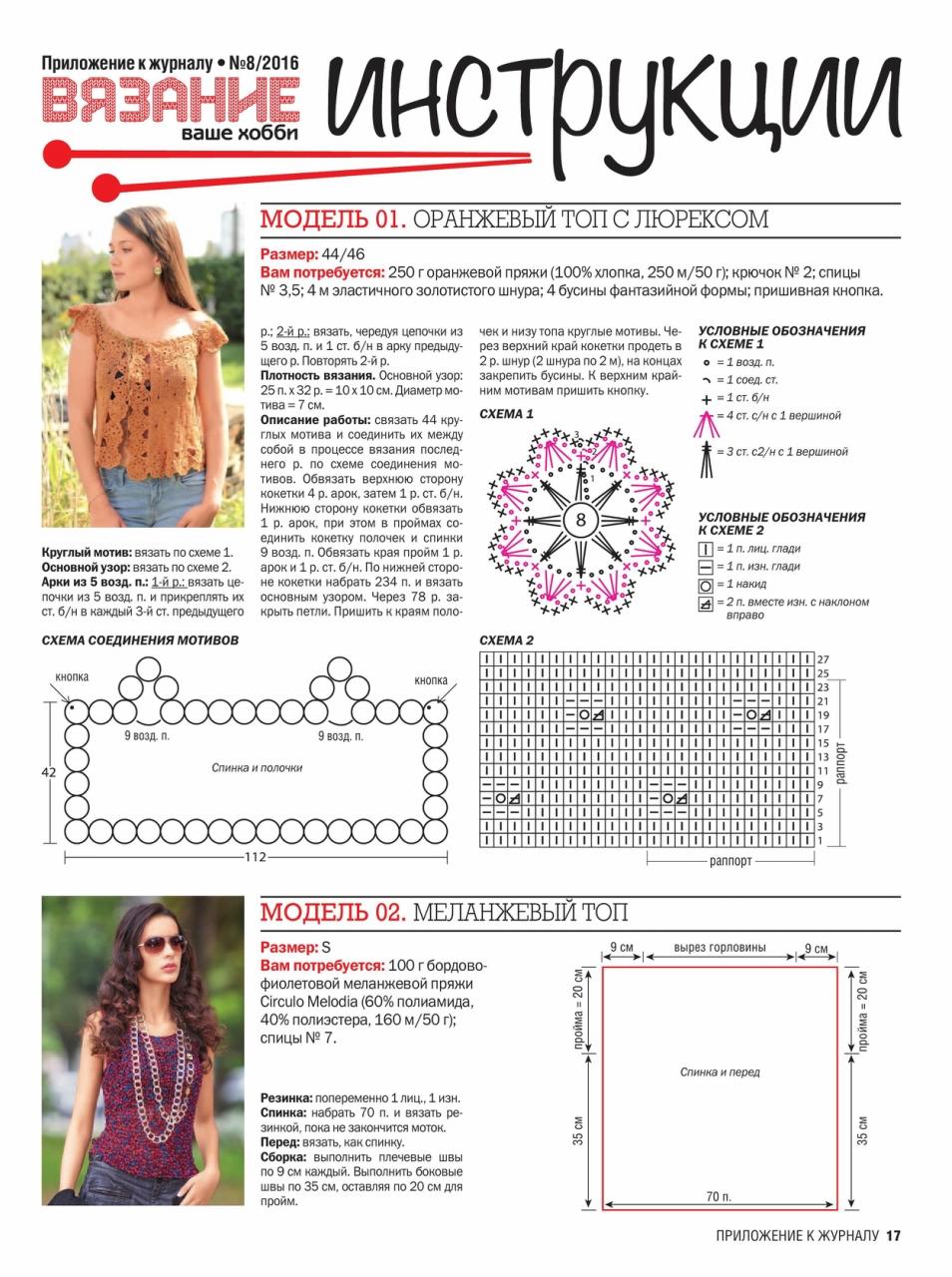 Журнал для вязания с инструкцией