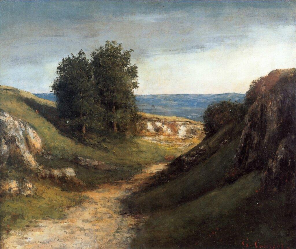Гюстав Курбе: Пейзаж в местечке Гюйе