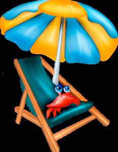 шезлонги с зонтом