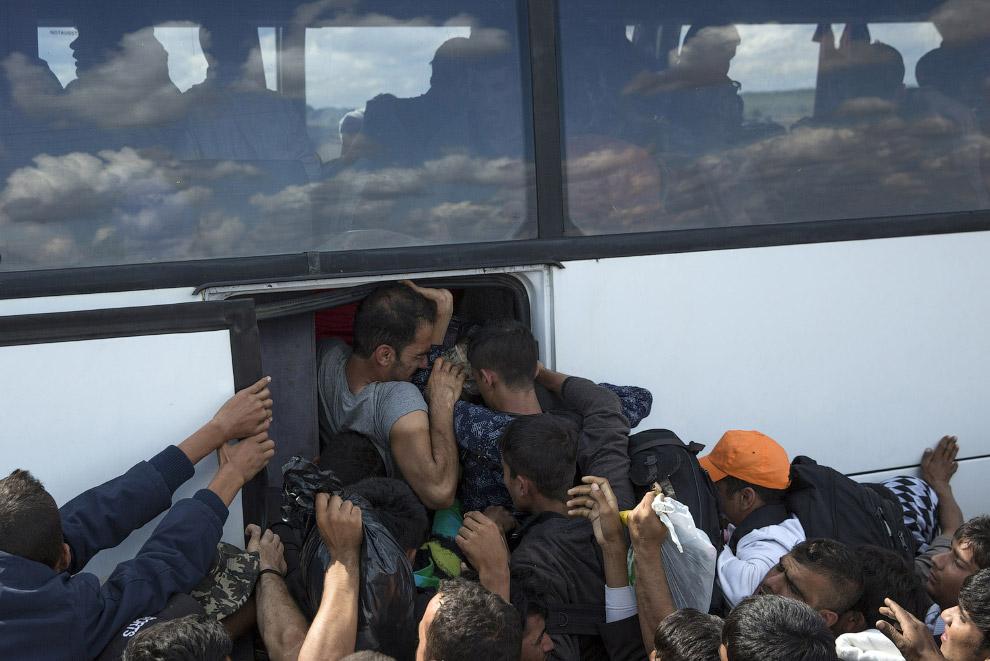 31. Мигранты в Будапеште, Венгрия, 4 сентября 2015. (Фото Frank Augstein):