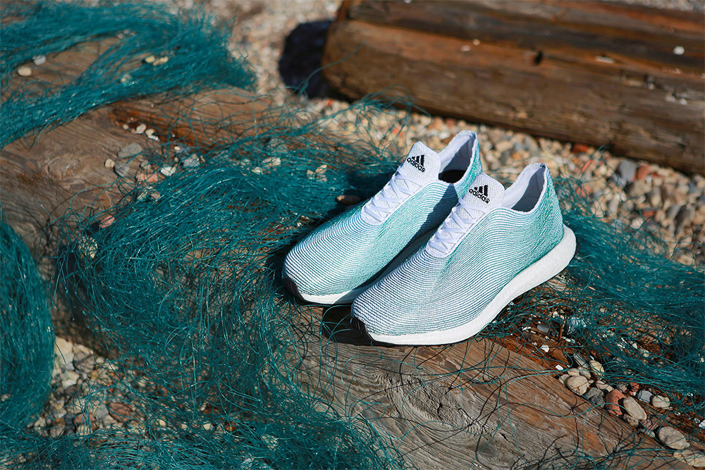 Adidas  is now designing shoes from our oceans' detritus, recently producing the world's first proto