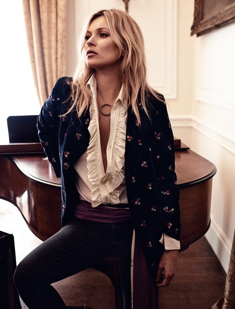 Кейт Мосс Vogue UK (май 2016) фото 6