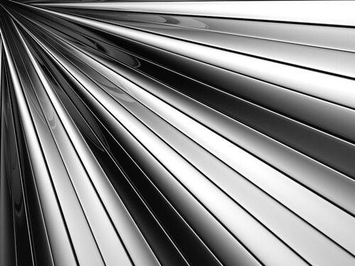 Abstract silver aluminium stripe background