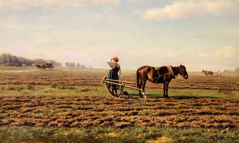 М. К. Клод холст, масло. 1871 г.На пашне