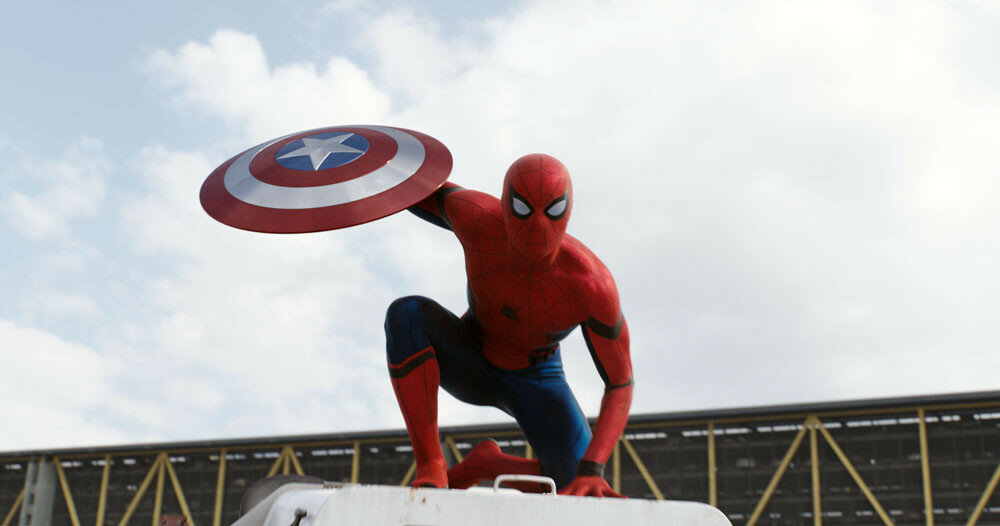 Marvel's Captain America: Civil War<br /> <br /> Spider-Man/Peter Parker (Tom Holland)<br /> <br /> Photo Credit: Film Frame<br /> <br /> © Marvel 2016