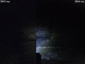 Фонарь Petzl Tactikka XP в максимальном режиме светит так