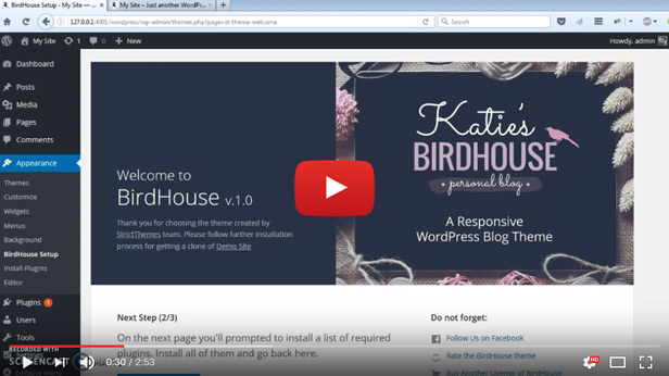 BirdHouse - A Responsive WordPress Blog Theme - 1