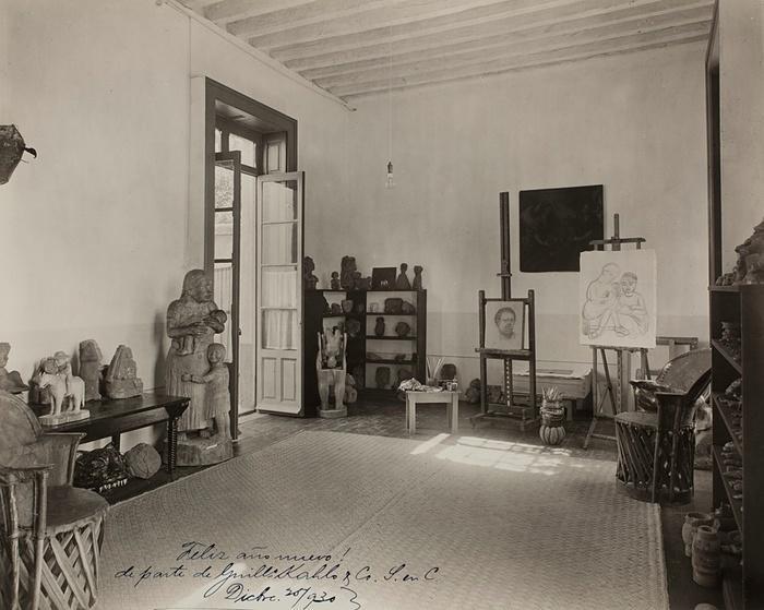 5. Студия мужа Фриды, художника Диего Риверо, 1930 год.